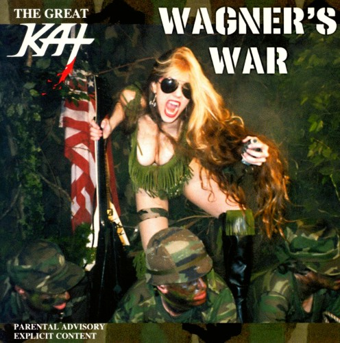 """The Great Kat, New York's head-banging thrash goddess, continues to connect the dots between metal music and classical with her latest, 'Wagner's War.' Inspired by the events of Sept. 11, Kat renders some of music's most famous, aggressive, battle-inspired pieces in shredding-speed metal arrangements that hiss and spit."" - Dan Aquilante, New York Post"