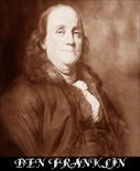 BENJAMIN FRANKLIN, Inventor/Politician/Diplomat/Founding Father of the United States/Violinist.
