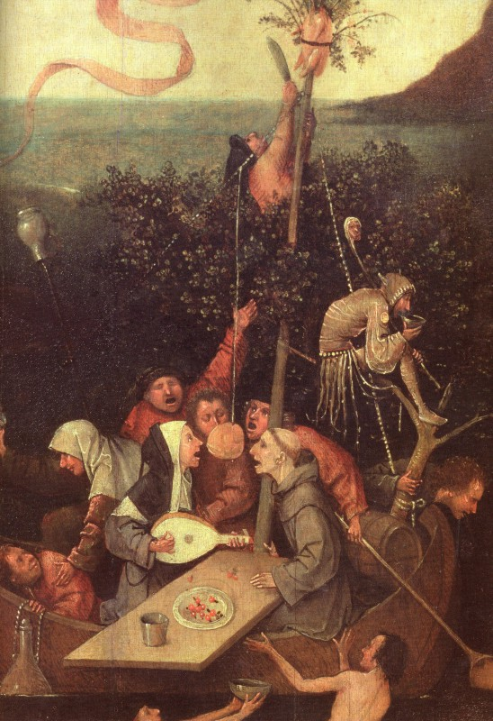 Hieronymus Bosch is the genius artist, whose paintings combined irreverent and grotesque images, fantasy, freaks, devils, and bizarre symbolism to depict corruption, indulgence, religious hypocrisy and human greed!