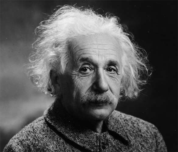 """ALBERT EINSTEIN (1879-1955) """"AT A VERY DISTANT DATE IN THE FUTURE, THE AVERAGE MIND MAY SURPASS THAT OF GALILEO"""" - ALBERT EINSTEIN, Genius Physicist"""