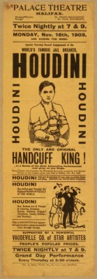 The Great Houdini was the legendary double-jointed magician who specialized in escaping from straitjackets, chains, handcuffs, ropes, trunks, jails, padlocked containers and milk cans underwater. He was a master of publicity stunts and famous for demystifying spiritualists and proving they were frauds. Houdini DIED on HALLOWEEN, in 1926!
