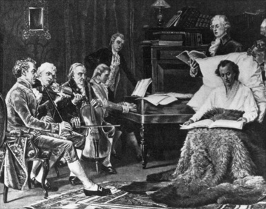 MOZART SINGING and REHEARSING his famous &quot;REQUIEM&quot; while DYING