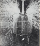 "NIKOLA TESLA, OBSESSIVE, ECCENTRIC Genius Inventor of the ""TESLA COIL"" and Developer of the ""ALTERNATING CURRENT (AC) SYSTEM"", who Held over 700 Patents and DIED ALONE and PENNILESS in NEW YORK CITY."
