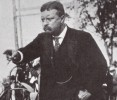 "THEODORE ROOSEVELT, was the youngest President of the United States at the age of 42. He was a statesman, police commissioner, Nobel Peace Prize winner, author, hero, cowboy, soldier, hunter, naturalist, explorer and leader of the Rough Riders! Roosevelt's policy was ""SPEAK SOFTLY AND CARRY A BIG STICK."""