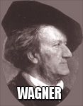"RICHARD WAGNER,  genius opera composer who invented the ""LEITMOTIVE"" (melodies corresponding to characters) and revolutionized operas with the 4 opera masterpiece ""THE RING."""