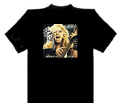 """WORSHIP ME OR DIE!"" Great Kat Large Black T-SHIRT with  8x10 COLOR ALBUM PHOTO on FRONT! T-SHIRT is PERSONALIZED AUTOGRAPHED by THE GREAT KAT! ONLY $99.99"