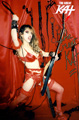 AUTOGRAPHED HOT KAT 8x10 COLOR PHOTO - RED HOT GODDESS OF SHRED!