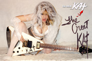 AUTOGRAPHED HOT KAT 8x10 COLOR PHOTO - WEDDING GODDESS!