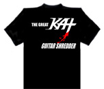 "NEW  THE GREAT KAT'S ""GUITAR SHREDDER"" T-SHIRT! Large and XL Black T-Shirt"