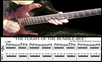 "WATCH GREAT KAT'S TABLATURE & CLOSE-UP FINGERWORK on ""THE FLIGHT OF THE BUMBLE-BEE"" (music from ""Beethoven Shreds"" CD)!"
