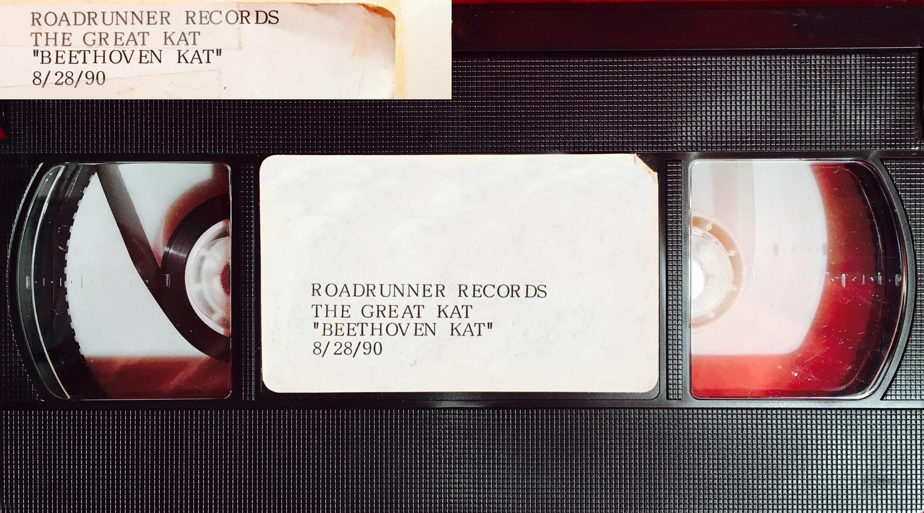 "METAL HISTORY! ORIGINAL VHS Video of The Great Kat's SPEED-METAL MASTERPIECE ""BEETHOVEN MOSH"" Music Video from ""BEETHOVEN ON SPEED!"" ""I AM BEETHOVEN!"""
