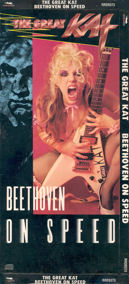 "THE GREAT KAT'S ""BEETHOVEN ON SPEED"" CD ORIGINAL LONGBOX! (FRONT)"
