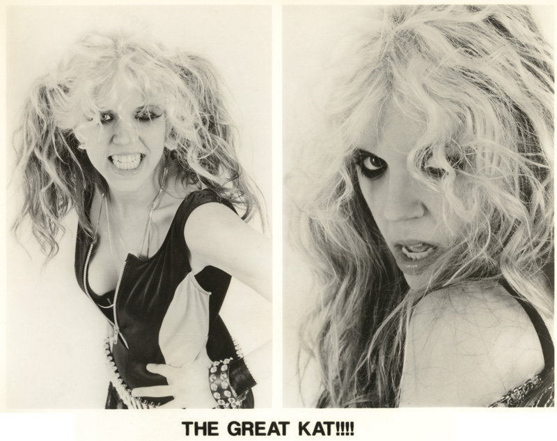"""THE GREAT KAT!!!! FAMOUS PUBLICITY SHOT from """"BEETHOVEN ON SPEED"""" ERA!"""