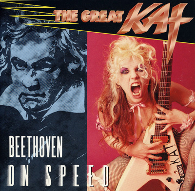 """BEETHOVEN ON SPEED"" DAY is SEPT 18th! ICONIC SPEED METAL/CLASSICAL ALBUM by THE GREAT KAT released on SEPT 18, 1990. CELEBRATE by BINGE-LISTENING THE GREAT KAT'S ENTIRE ""BEETHOVEN ON SPEED"" on SPOTIFY, iTUNES, AMAZON, NAPSTER & MORE! FREE on APPLE MUSIC! In the NEW YORK TIMES featured story on The Great Kat's ""Beethoven On Speed"", John Rockwell declared: ""The wave of the future might well be heavy-metal Beethoven by way of Juilliard"". Today ""Beethoven On Speed"" is featured in ""America's Beethoven"" Exhibit at the ""American Beethoven Society""!"