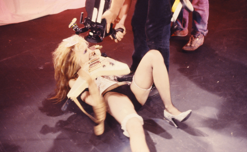 """RARE! BEHIND THE SCENES as THE GREAT KAT SHREDS on """"BEETHOVEN MOSH"""" MUSIC VIDEO!"""