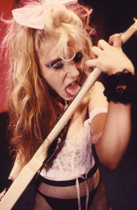 """BEETHOVEN MOSH"" Music Video's FAMOUS KAT SHRED GUITAR LICKS PHOTO from the ""BEETHOVEN ON SPEED"" ERA!!"