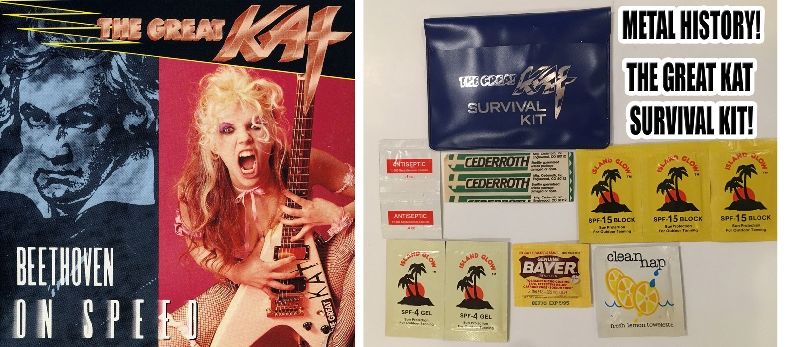 "METAL HISTORY! THE GREAT KAT SURVIVAL KIT! From ""BEETHOVEN ON SPEED""!"