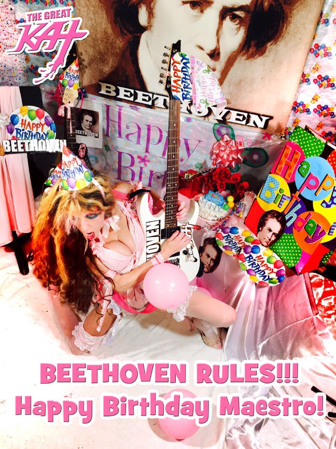 BEETHOVEN RULES!!! Happy Birthday Maestro!