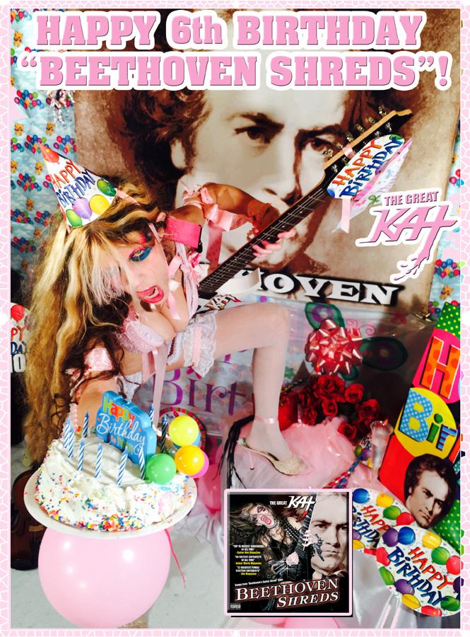 "HAPPY 6th BIRTHDAY ""BEETHOVEN SHREDS""!"