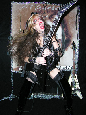 "WENN - THE CELEBRITY WORLD ENTERTAINMENT NEWS NETWORK - FEATURES THE GREAT KAT: ""YOUTUBE SENSATION THE GREAT KAT HAS BECOME KNOWN FOR HER HEAVY METAL TAKE ON CLASSICAL MUSIC""! ""The Great Kat shows off unique talents on Beethoven Shreds. YouTube sensation The Great Kat has become known for her heavy metal take on classical music and her shredding skills on the guitar have captivated audiences across the world. She has now recorded her unique talents on disc for Beethoven Shreds, showing listeners exactly why she is the world's fastest guitar shredder."" - Wenn"