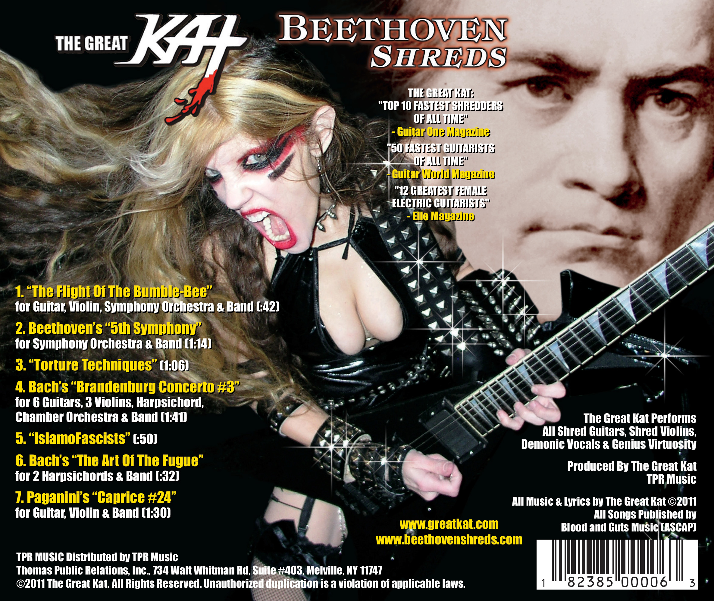 """The Great KAT """"BEETHOVEN SHREDS"""" CD Photos!"""