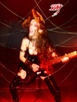 THE GREAT KAT SHREDDING her BURNS SCORPION GUITAR