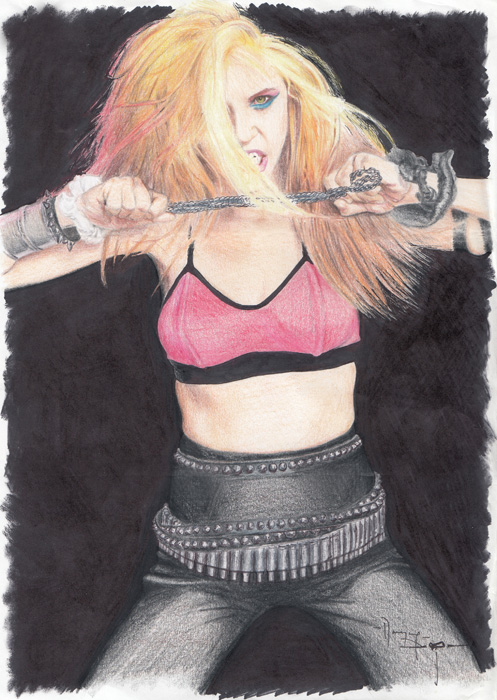 "THE GREAT KAT ""LADYKILLERS"" Drawing by Kat-Possessed ThrashDisciple Marian Danzig"