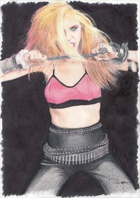 Drawing by Kat-Possessed ThrashDisciple Marian Danzig