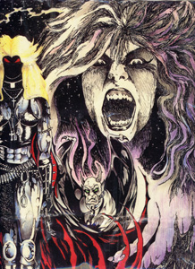 THE GREAT KAT VICIOUS, EVIL Guitar GOD/Violent Shred Goddess/Demonic Violin Virtuoso/COMIC BOOK VILLAIN!