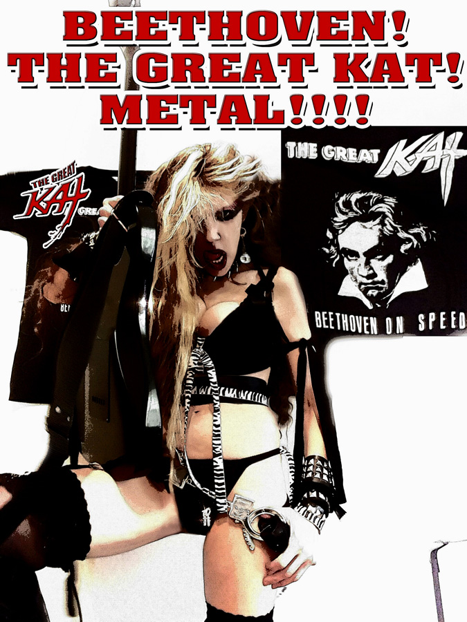 BEETHOVEN! THE GREAT KAT! METAL!!!! CARTOON
