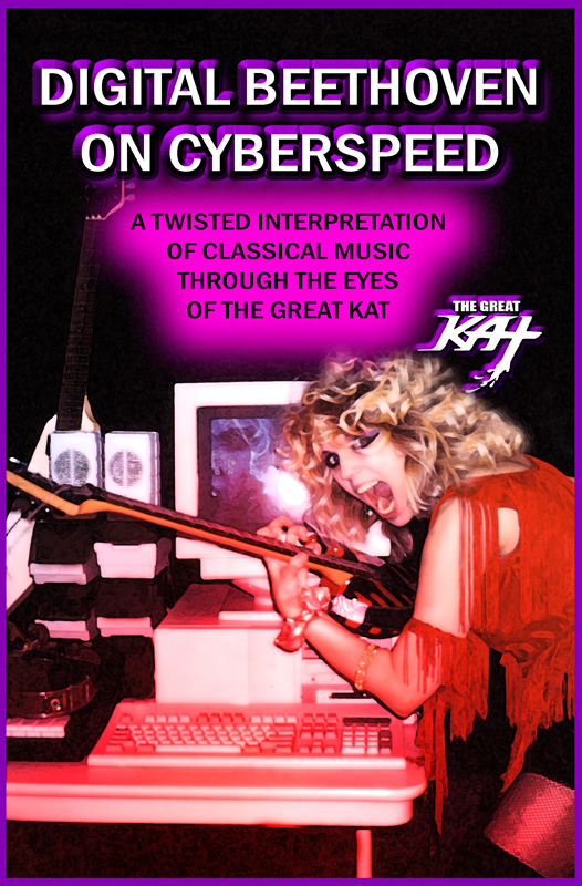 """DIGITAL BEETHOVEN ON CYBERSPEED"" ERA'S FAMOUS TWISTED KAT PHOTO"