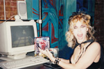 """DIGITAL BEETHOVEN ON CYBERSPEED"" ERA'S THE GREAT KAT, FUTURIST, DEMOS the CD-ROM IN NYC for the UPCOMING NEW MILLENNIUM!"