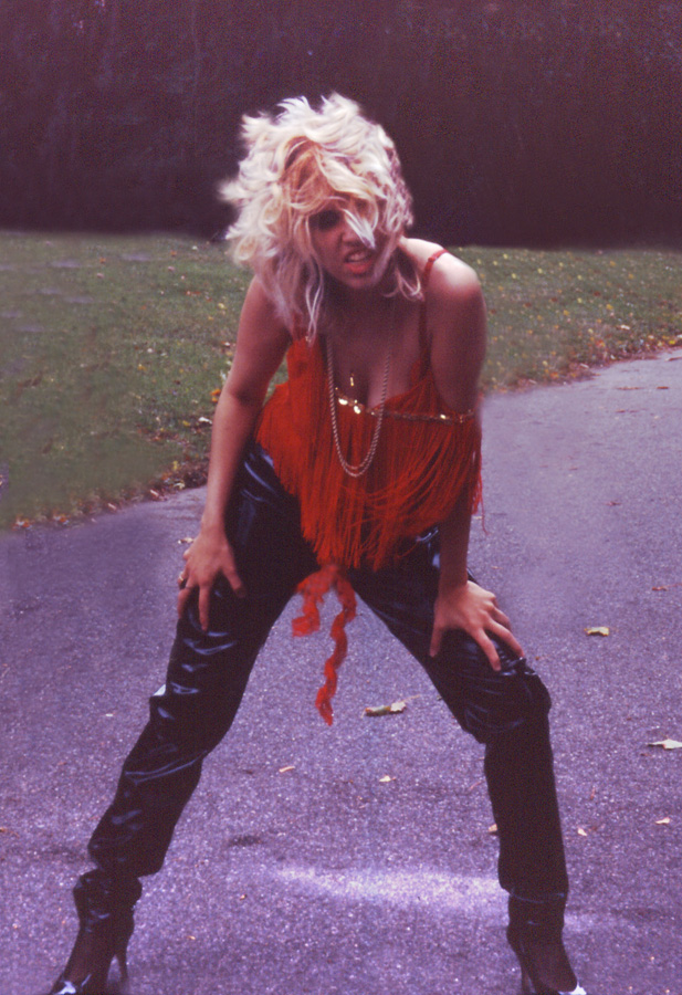 """RARE METAL HISTORY! """"DIGITAL BEETHOVEN ON CYBERSPEED"""" ERA'S RED HOT LEATHER GODDESS GREAT KAT CUTIE!!!"""