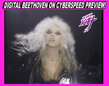 "NEW ON YOUTUBE! DIGITAL BEETHOVEN ON CYBERSPEED CD-ROM/CD PREVIEW BY THE GREAT KAT! Watch at http://youtu.be/vaAr3Ls_lus. ""Digital Beethoven On Cyberspeed"" combines Classical Music and Metal in a wildly entertaining history of music�past, present and future�through the eyes of the world�s fastest guitar virtuoso, The Great Kat! WAKE UP!!!"