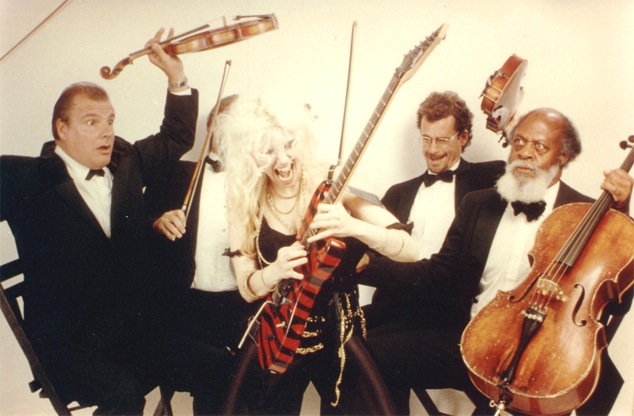 """The Great Kat SHREDS Classical String Quartet from """"DIGITAL BEETHOVEN ON CYBERSPEED"""" CD/CD-ROM!"""