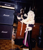 "THE GREAT KAT GETTING READY TO SHRED during the VISIONARY ""DIGITAL BEETHOVEN ON CYBERSPEED"" CD/CD-ROM RECORDING!"