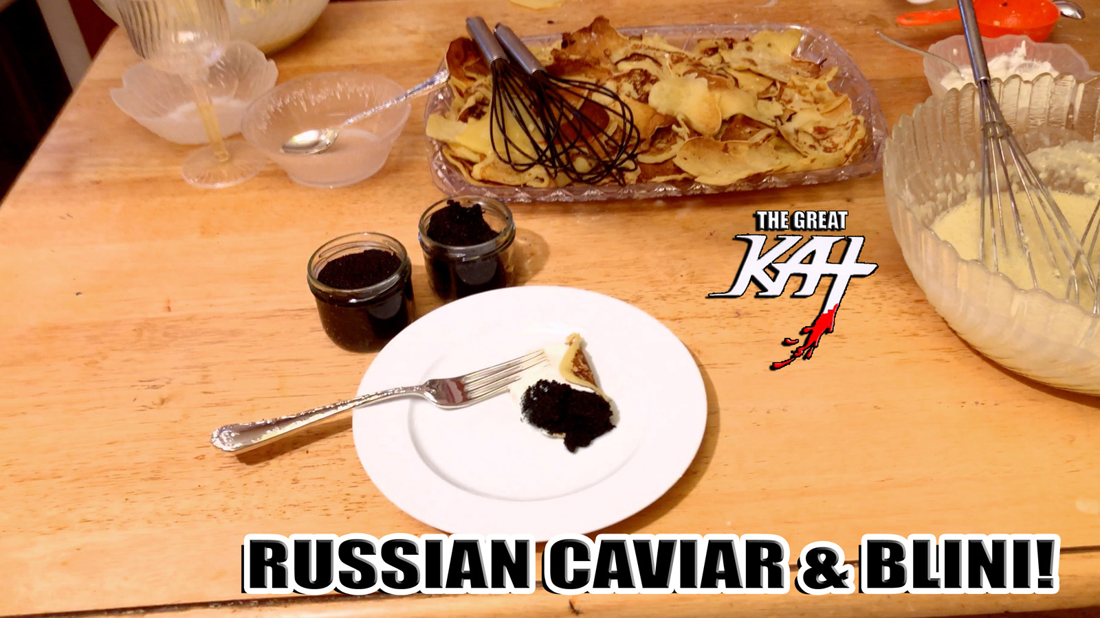 """RUSSIAN CAVIAR & BLINI! From """"CHEF GREAT KAT COOKS RUSSIAN CAVIAR AND BLINI WITH RIMSKY-KORSAKOV"""" VIDEO!!"""