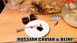 "RUSSIAN CAVIAR & BLINI! From ""CHEF GREAT KAT COOKS RUSSIAN CAVIAR AND BLINI WITH RIMSKY-KORSAKOV"" VIDEO!!"