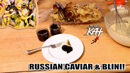 "RECIPE for RUSSIAN CAVIAR & BLINI! From ""CHEF GREAT KAT COOKS RUSSIAN CAVIAR AND BLINI WITH RIMSKY-KORSAKOV"" VIDEO!!"