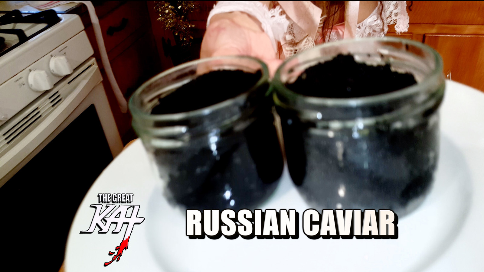 """RUSSIAN CAVIAR! From """"CHEF GREAT KAT COOKS RUSSIAN CAVIAR AND BLINI WITH RIMSKY-KORSAKOV"""" VIDEO!!"""
