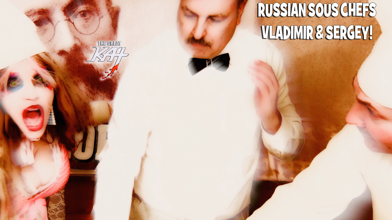 "RUSSIAN SOUS CHEFS VLADIMIR & SERGEY! From ""CHEF GREAT KAT COOKS RUSSIAN CAVIAR AND BLINI WITH RIMSKY-KORSAKOV"" VIDEO!!"