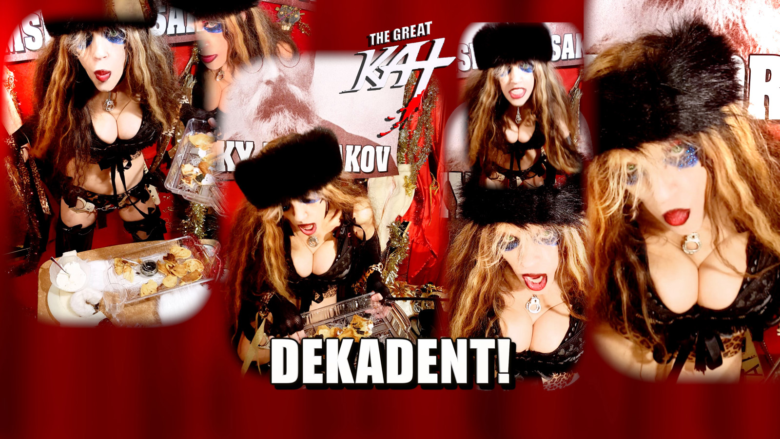 """DEKADENT! From """"CHEF GREAT KAT COOKS RUSSIAN CAVIAR AND BLINI WITH RIMSKY-KORSAKOV"""" VIDEO!!"""