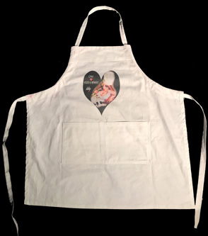 "NEW CHEF GREAT KAT SHRED APRON! ""Chef Loves Food & Shred"" APRON! White Apron Printed with HOT CHEF GREAT KAT PHOTO on APRON! Apron measures 29"" x 31"" - One size fits all. 100% Cotton. http://store10552072.ecwid.com/products/102093765"