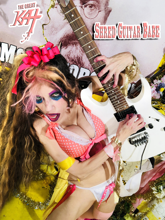 """SHRED GUITAR BABE! From """"CHEF GREAT KAT COOKS RUSSIAN CAVIAR AND BLINI WITH RIMSKY-KORSAKOV"""" VIDEO!!"""