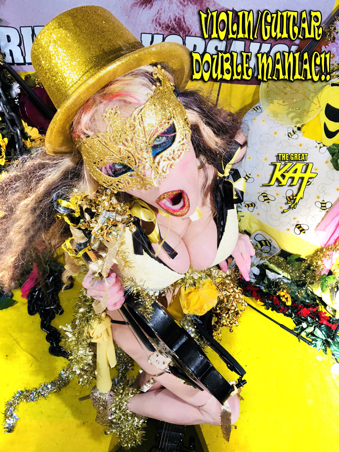 "VIOLIN/GUITAR DOUBLE MANIAC!! From ""CHEF GREAT KAT COOKS RUSSIAN CAVIAR AND BLINI WITH RIMSKY-KORSAKOV"" VIDEO!!"