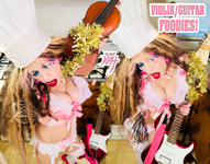 "VIOLIN/GUITAR FOODIES! From ""CHEF GREAT KAT COOKS RUSSIAN CAVIAR AND BLINI WITH RIMSKY-KORSAKOV"" VIDEO!!"
