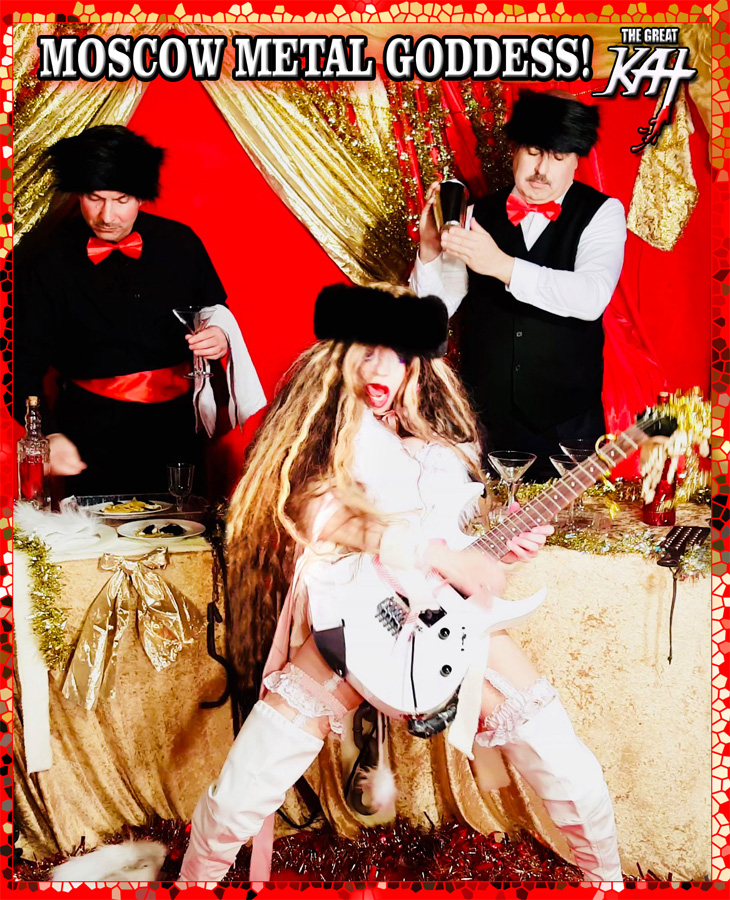 """MOSCOW METAL GODDESS! From """"CHEF GREAT KAT COOKS RUSSIAN CAVIAR AND BLINI WITH RIMSKY-KORSAKOV"""" VIDEO!!"""