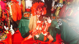 VEGAS BABY VIOLIN!! From CHEF GREAT KAT COOKS PAGANINI'S RAVIOLI!