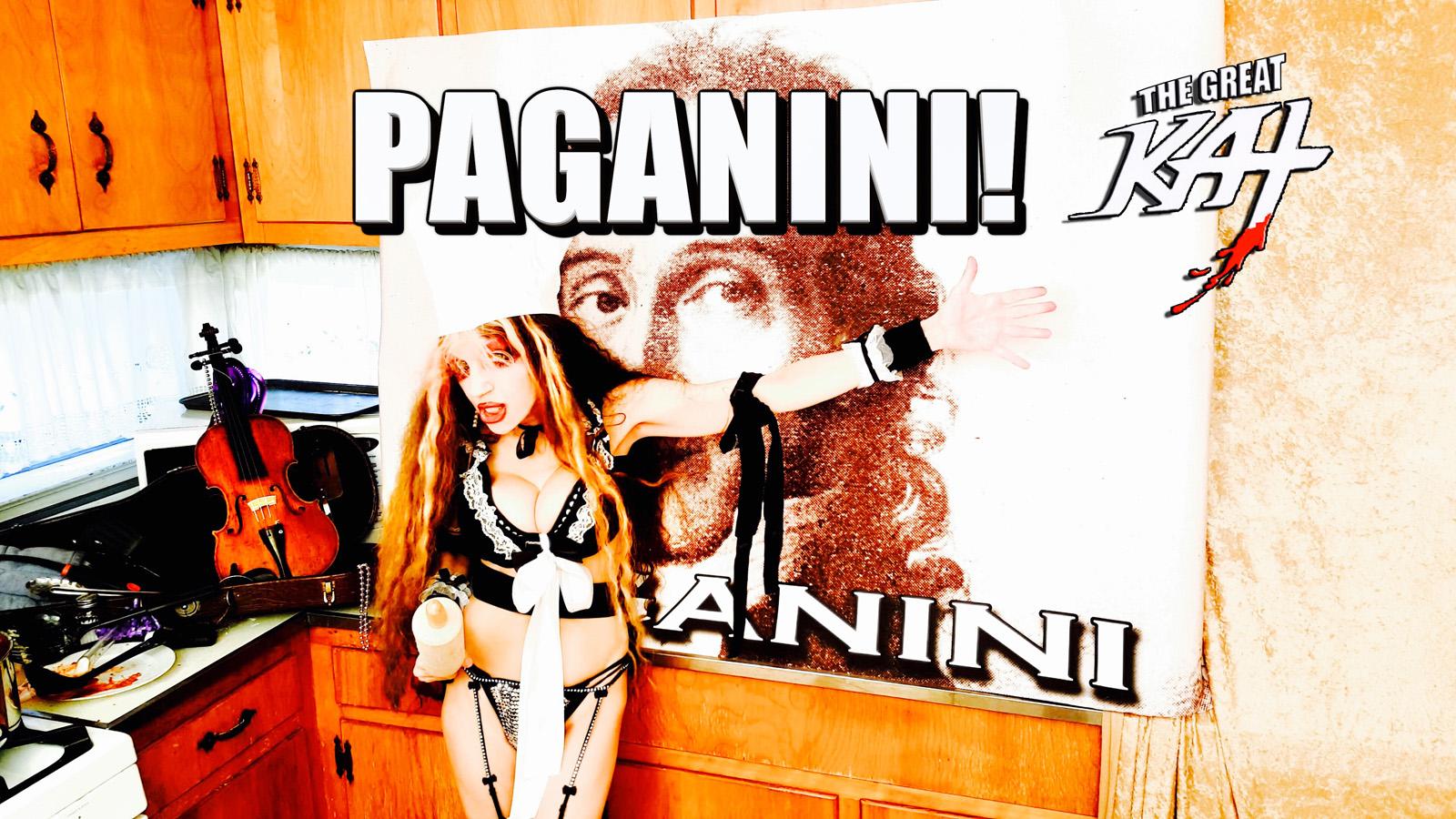 PAGANINI! From CHEF GREAT KAT COOKS PAGANINI'S RAVIOLI!