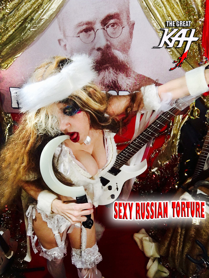 "SEXY RUSSIAN TORTURE! From ""CHEF GREAT KAT COOKS RUSSIAN CAVIAR AND BLINI WITH RIMSKY-KORSAKOV"" VIDEO!"